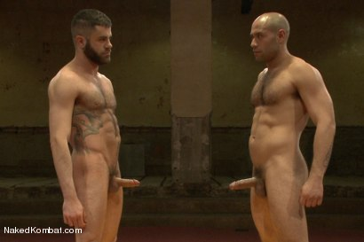 """Photo number 15 from Marcus """"The IceMan"""" Isaacs vs Leo """"The Force"""" Forte - Padded Cell Fuck shot for Naked Kombat on Kink.com. Featuring Marcus Isaacs and Leo Forte in hardcore BDSM & Fetish porn."""