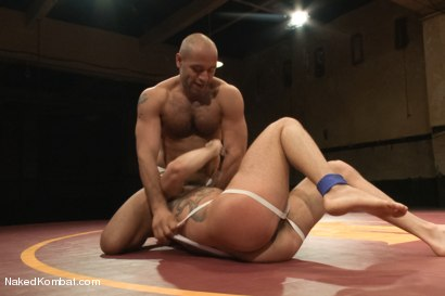 """Photo number 4 from Marcus """"The IceMan"""" Isaacs vs Leo """"The Force"""" Forte - Padded Cell Fuck shot for Naked Kombat on Kink.com. Featuring Marcus Isaacs and Leo Forte in hardcore BDSM & Fetish porn."""