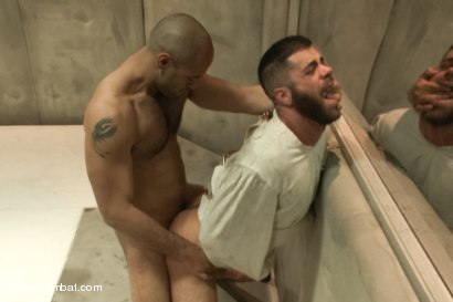 """Photo number 13 from Marcus """"The IceMan"""" Isaacs vs Leo """"The Force"""" Forte - Padded Cell Fuck shot for Naked Kombat on Kink.com. Featuring Marcus Isaacs and Leo Forte in hardcore BDSM & Fetish porn."""