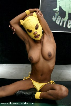 Photo number 2 from The Goddess (4-0) vs. Yellow Kitty (0-1) shot for Ultimate Surrender on Kink.com. Featuring Isis Love and Yellow Kitty in hardcore BDSM & Fetish porn.
