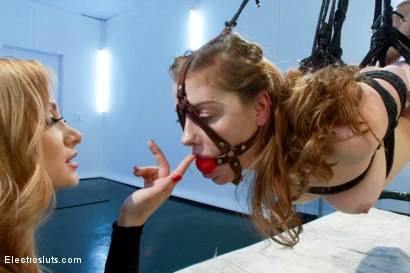 Photo number 13 from Very First Bondage Suspension shot for Electro Sluts on Kink.com. Featuring Sovereign Syre and Lea Lexis in hardcore BDSM & Fetish porn.