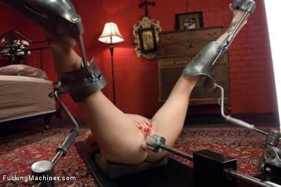 Photo number 3 from The Ginger Queen & the Machines -Ass Fucking Double Anal Pussy Poundin shot for Fucking Machines on Kink.com. Featuring Audrey Hollander in hardcore BDSM & Fetish porn.
