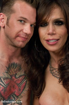 Photo number 15 from New Dom in Sexy Latex Whips out Her Cock and Fucks a Bound Slave Boy shot for TS Seduction on Kink.com. Featuring Sofia Sanders and Will Havoc in hardcore BDSM & Fetish porn.