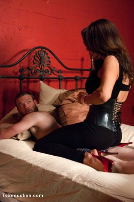 """Photo number 1 from Introducing Brand NEW Dom - Sofia Sanders in """"The Wives' Club"""" Series shot for TS Seduction on Kink.com. Featuring Sofia Sanders and Jesse Carl in hardcore BDSM & Fetish porn."""