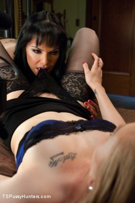 Photo number 1 from Bubble Butt & A Hard Cock all in 1:The Girl Friend experience TS style shot for TS Pussy Hunters on Kink.com. Featuring TS Foxxy and Tracey Sweet in hardcore BDSM & Fetish porn.