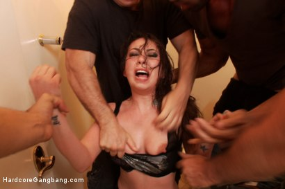 Photo number 15 from Kat Dior Special-Orders Rough Hardcore Gangbang  shot for Hardcore Gangbang on Kink.com. Featuring John Strong, Karlo Karrera, John Johnson, Kat Dior and Mark Davis in hardcore BDSM & Fetish porn.