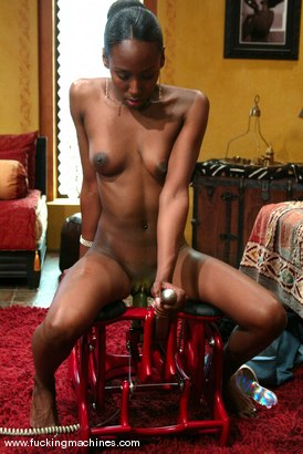 Photo number 3 from Iman shot for Fucking Machines on Kink.com. Featuring Iman in hardcore BDSM & Fetish porn.