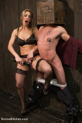 Photo number 1 from British bombshell, Tanya Tate gives douche bag club dude a lesson! shot for Divine Bitches on Kink.com. Featuring Tanya Tate and Casey More in hardcore BDSM & Fetish porn.