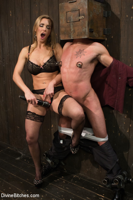 British bombshell, Tanya Tate gives douche bag club dude a lesson!