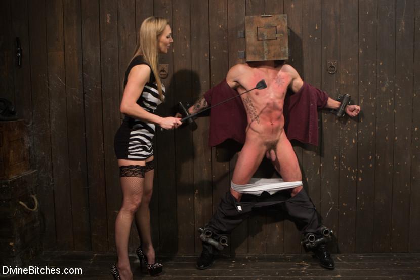 British bombshell, Tanya Tate gives douche bag club dude a lesson!