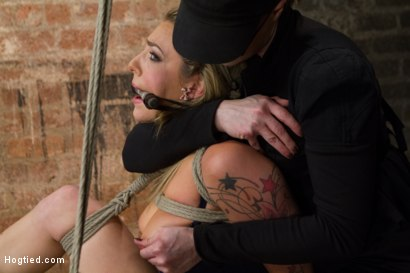 Photo number 2 from Mega Hottie Dahlia Sky shot for Hogtied on Kink.com. Featuring Dahlia Sky in hardcore BDSM & Fetish porn.