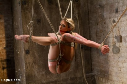 Photo number 4 from Mega Hottie Dahlia Sky shot for Hogtied on Kink.com. Featuring Dahlia Sky in hardcore BDSM & Fetish porn.
