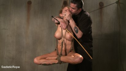 Photo number 11 from Hardcore Suffering and Brutal Orgasms shot for Sadistic Rope on Kink.com. Featuring Rain DeGrey in hardcore BDSM & Fetish porn.
