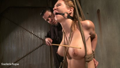 Photo number 12 from Hardcore Suffering and Brutal Orgasms shot for Sadistic Rope on Kink.com. Featuring Rain DeGrey in hardcore BDSM & Fetish porn.
