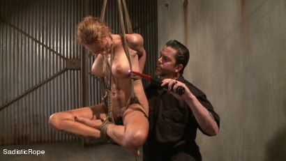 Photo number 5 from Hardcore Suffering and Brutal Orgasms shot for Sadistic Rope on Kink.com. Featuring Rain DeGrey in hardcore BDSM & Fetish porn.