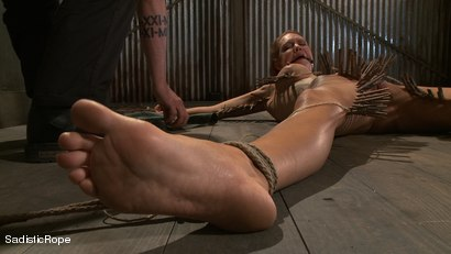 Photo number 9 from Hardcore Suffering and Brutal Orgasms shot for Sadistic Rope on Kink.com. Featuring Rain DeGrey in hardcore BDSM & Fetish porn.