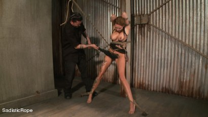 Photo number 14 from Hardcore Suffering and Brutal Orgasms shot for Sadistic Rope on Kink.com. Featuring Rain DeGrey in hardcore BDSM & Fetish porn.