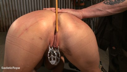 Photo number 6 from Hardcore Suffering and Brutal Orgasms shot for Sadistic Rope on Kink.com. Featuring Rain DeGrey in hardcore BDSM & Fetish porn.