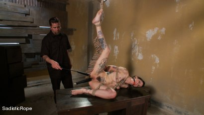 Photo number 8 from Reigning Chaos on Krysta shot for Sadistic Rope on Kink.com. Featuring Krysta Kaos and The Pope in hardcore BDSM & Fetish porn.