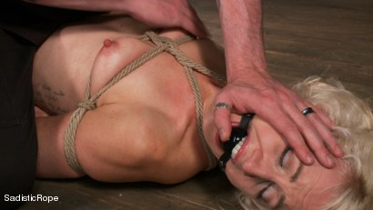 Photo number 1 from Tall Blond Bombshell Taken Down shot for Sadistic Rope on Kink.com. Featuring Dylan Ryan in hardcore BDSM & Fetish porn.
