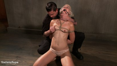 Photo number 2 from Tall Blond Bombshell Taken Down shot for Sadistic Rope on Kink.com. Featuring Dylan Ryan in hardcore BDSM & Fetish porn.