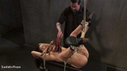 Photo number 4 from Pixie of Pain shot for Sadistic Rope on Kink.com. Featuring Juliette March in hardcore BDSM & Fetish porn.