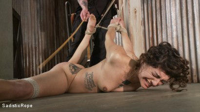 Photo number 13 from Bendy Newcomer Taken to the Edge shot for Sadistic Rope on Kink.com. Featuring Bianca Stone in hardcore BDSM & Fetish porn.