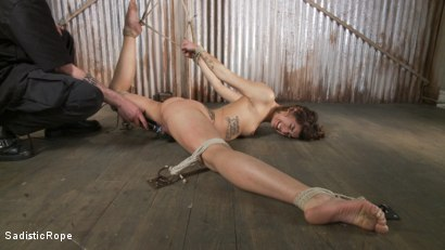 Photo number 4 from Bendy Newcomer Taken to the Edge shot for Sadistic Rope on Kink.com. Featuring Bianca Stone in hardcore BDSM & Fetish porn.