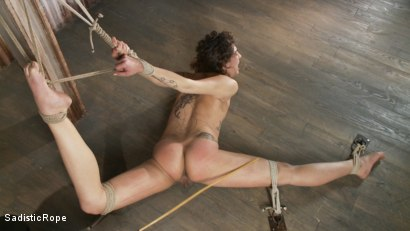 Photo number 7 from Bendy Newcomer Taken to the Edge shot for Sadistic Rope on Kink.com. Featuring Bianca Stone in hardcore BDSM & Fetish porn.