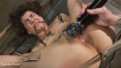Photo number 9 from Bendy Newcomer Taken to the Edge shot for Sadistic Rope on Kink.com. Featuring Bianca Stone in hardcore BDSM & Fetish porn.