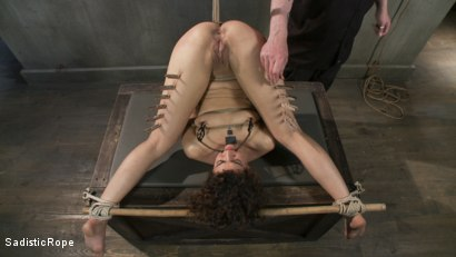 Photo number 10 from Bendy Newcomer Taken to the Edge shot for Sadistic Rope on Kink.com. Featuring Bianca Stone in hardcore BDSM & Fetish porn.