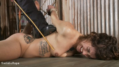 Photo number 12 from Bendy Newcomer Taken to the Edge shot for Sadistic Rope on Kink.com. Featuring Bianca Stone in hardcore BDSM & Fetish porn.