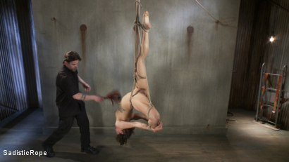 Photo number 5 from Bendy Newcomer Taken to the Edge shot for Sadistic Rope on Kink.com. Featuring Bianca Stone in hardcore BDSM & Fetish porn.