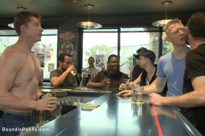 Photo number 1 from Nasty Straight Bartender Takedown shot for Bound in Public on Kink.com. Featuring Hayden Richards, Rob Yaeger and Will Parks in hardcore BDSM & Fetish porn.