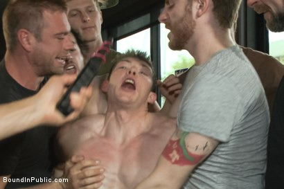 Photo number 4 from Nasty Straight Bartender Takedown shot for Bound in Public on Kink.com. Featuring Hayden Richards, Rob Yaeger and Will Parks in hardcore BDSM & Fetish porn.