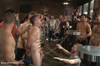 Photo number 7 from Nasty Straight Bartender Takedown shot for Bound in Public on Kink.com. Featuring Hayden Richards, Rob Yaeger and Will Parks in hardcore BDSM & Fetish porn.