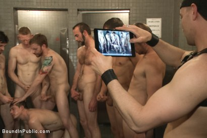 Photo number 13 from Nasty Bartender Humiliated and Gang Fucked by Angry Crowd shot for Bound in Public on Kink.com. Featuring Hayden Richards, Rob Yaeger and Will Parks in hardcore BDSM & Fetish porn.