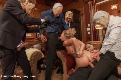 Photo number 14 from Cutie Lives out her Fantasy of Being Dp'ed by her Dad's Security Men shot for Hardcore Gangbang on Kink.com. Featuring Xander Corvus, Jordan Ash, Danny Wylde, Bill Bailey, Karlo Karrera and Zoey Monroe in hardcore BDSM & Fetish porn.