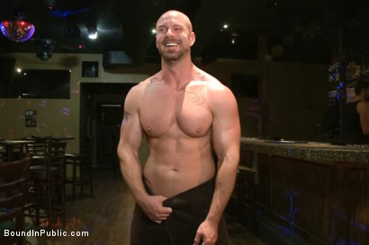 Photo number 15 from Muscled stud has had enough but the horny crowd says no shot for Bound in Public on Kink.com. Featuring Mitch Vaughn, Jeremy Stevens and Rob Yaeger in hardcore BDSM & Fetish porn.