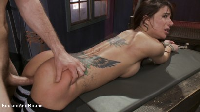 Photo number 5 from Gia DiMarco - Tied Tight and Fucked Hard shot for Fucked and Bound on Kink.com. Featuring Gia DiMarco and Maestro in hardcore BDSM & Fetish porn.
