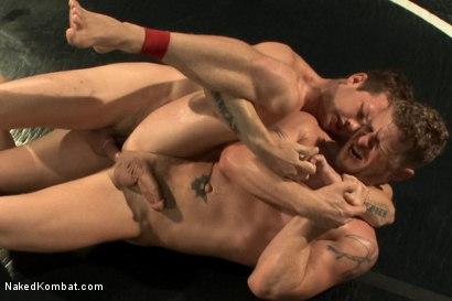 "Photo number 14 from ""The Swank"" vs ""Stonewall Stevens"" - Fight of the Century! shot for Naked Kombat on Kink.com. Featuring Jeremy Stevens and Hayden Richards in hardcore BDSM & Fetish porn."