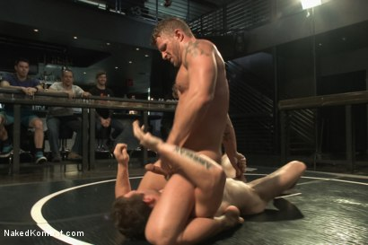 "Photo number 5 from ""The Swank"" vs ""Stonewall Stevens"" - Fight of the Century! shot for Naked Kombat on Kink.com. Featuring Jeremy Stevens and Hayden Richards in hardcore BDSM & Fetish porn."