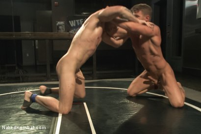 "Photo number 6 from ""The Swank"" vs ""Stonewall Stevens"" - Fight of the Century! shot for Naked Kombat on Kink.com. Featuring Jeremy Stevens and Hayden Richards in hardcore BDSM & Fetish porn."