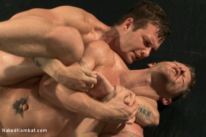 "Photo number 12 from ""The Swank"" vs ""Stonewall Stevens"" - Fight of the Century! shot for Naked Kombat on Kink.com. Featuring Jeremy Stevens and Hayden Richards in hardcore BDSM & Fetish porn."