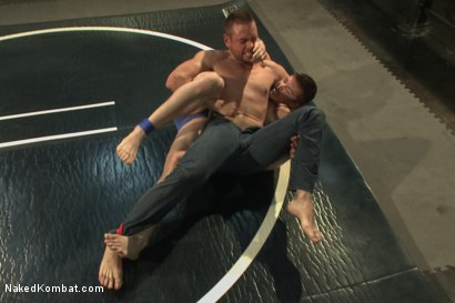 "Photo number 2 from Will ""The Punisher"" Parks vs John ""Jizz on Your Face"" Jammen shot for Naked Kombat on Kink.com. Featuring Will Parks and John Jammen in hardcore BDSM & Fetish porn."