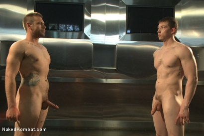 "Photo number 15 from Will ""The Punisher"" Parks vs John ""Jizz on Your Face"" Jammen shot for Naked Kombat on Kink.com. Featuring Will Parks and John Jammen in hardcore BDSM & Fetish porn."