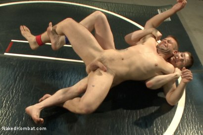 "Photo number 6 from Will ""The Punisher"" Parks vs John ""Jizz on Your Face"" Jammen shot for Naked Kombat on Kink.com. Featuring Will Parks and John Jammen in hardcore BDSM & Fetish porn."