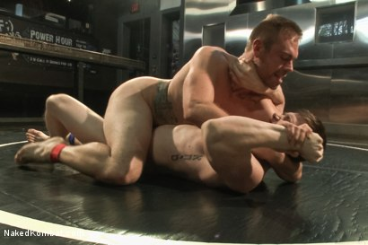 "Photo number 7 from Will ""The Punisher"" Parks vs John ""Jizz on Your Face"" Jammen shot for Naked Kombat on Kink.com. Featuring Will Parks and John Jammen in hardcore BDSM & Fetish porn."