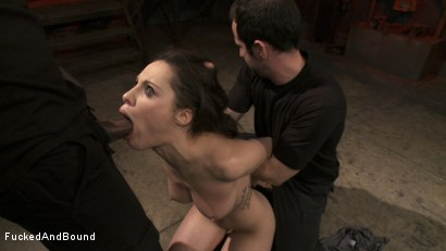Photo number 2 from French Anal Whore Double Teamed shot for  on Kink.com. Featuring Nikita Bellucci, Mickey Mod and Maestro in hardcore BDSM & Fetish porn.