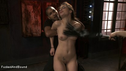 Photo number 7 from French Anal Whore Double Teamed shot for  on Kink.com. Featuring Nikita Bellucci, Mickey Mod and Maestro in hardcore BDSM & Fetish porn.